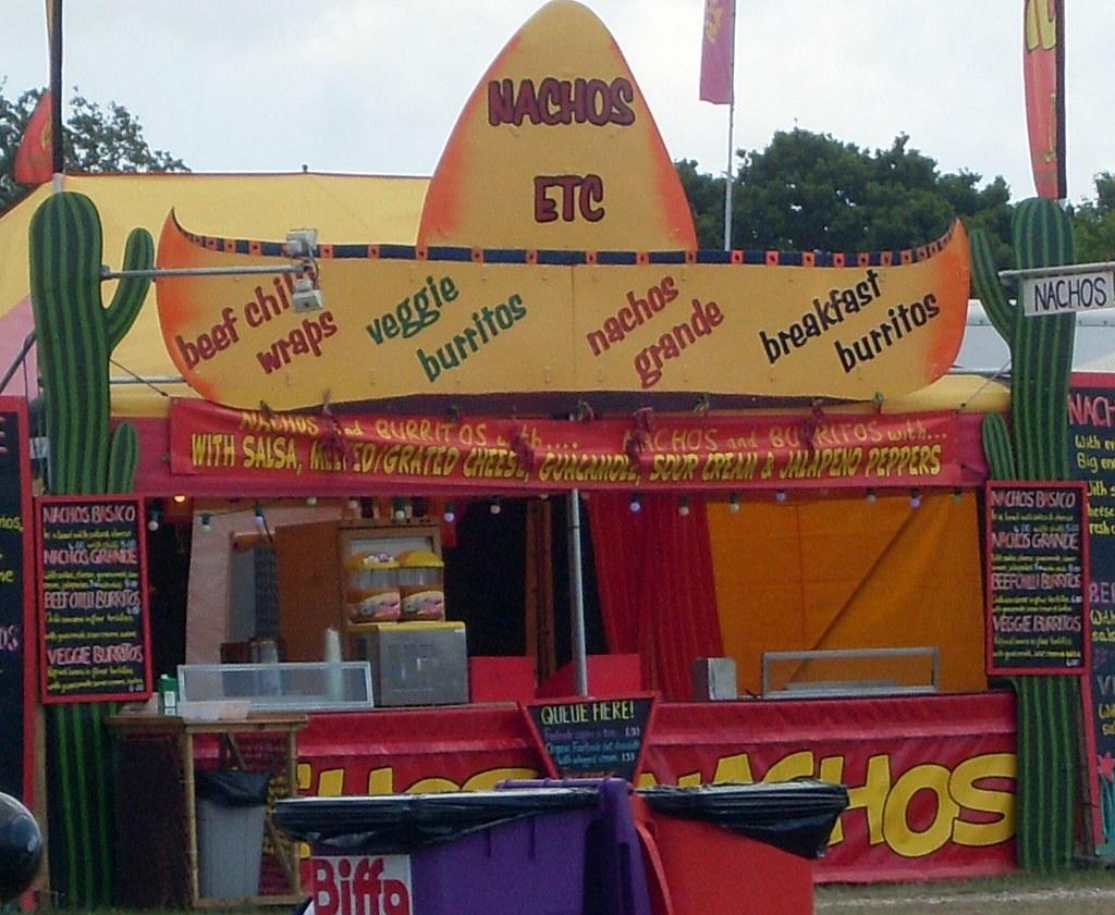 Mexican Food Nachos At Nerang