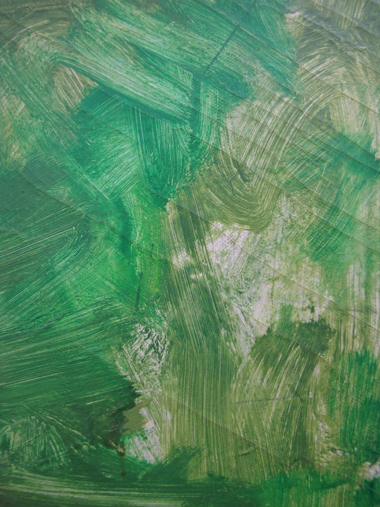 Green Paint Brush Strokes On Paper By Sherrie Thai Of