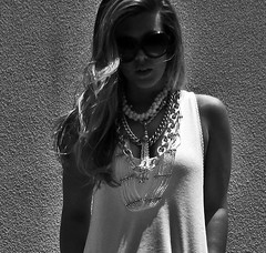 silver-white-layered-chain-necklaces-bw | by ...love Maegan