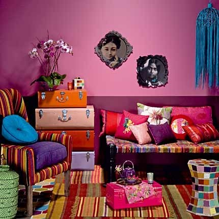 bohemian folk ethnique blogged on deco chic. Black Bedroom Furniture Sets. Home Design Ideas