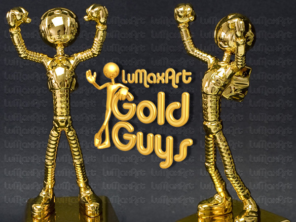 Toys For Awards : Lumaxart gold guys cubicle toys awards