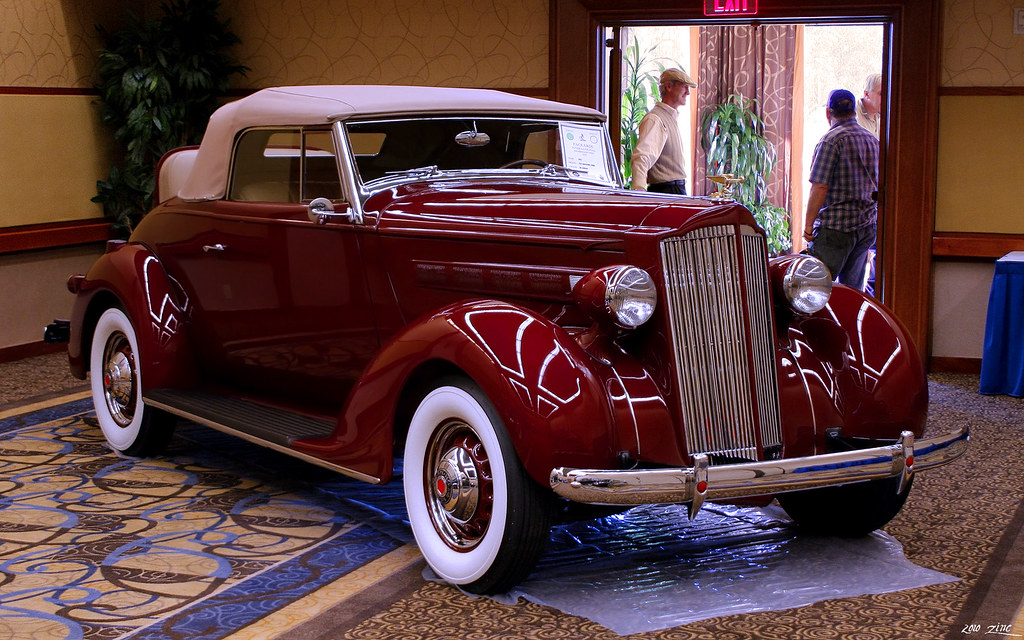 1937 Packard 115c Convertible Coupe Maroon Fvr Flickr