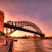 Sydney Harbour Bridge pink sunset