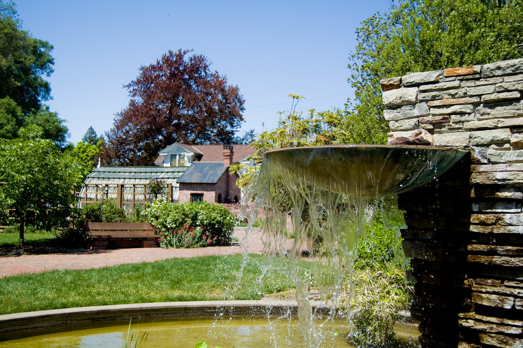 Luther Burbank Garden Fountain At The