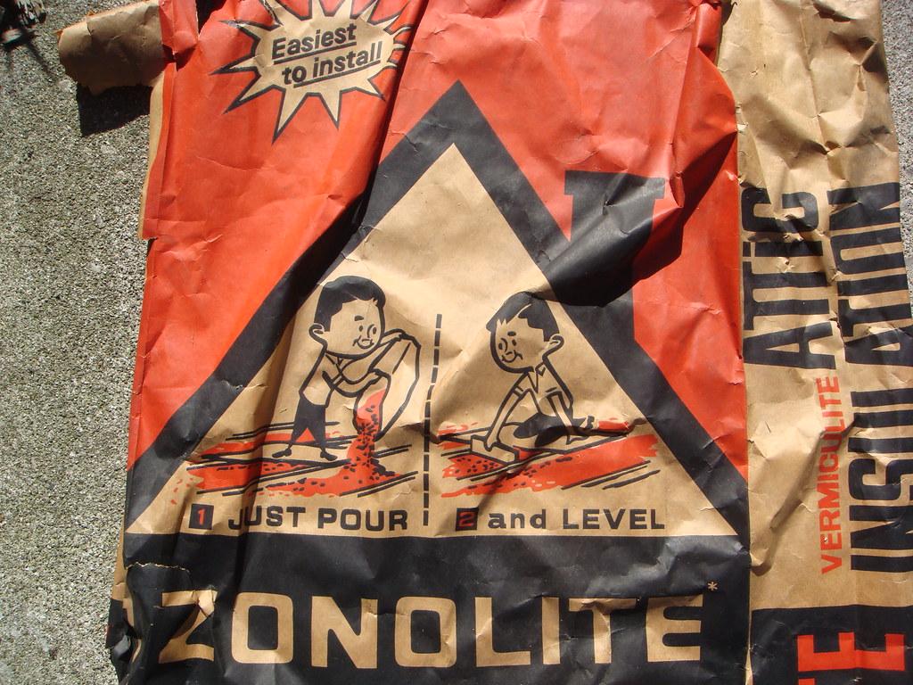 Zonolite Attic Insulation Bag Upper Front Close Up Flickr