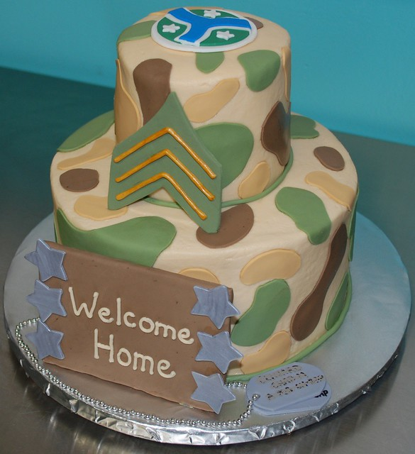 Military welcome home cake this is the cake i did today for Welcome home soldier decorations