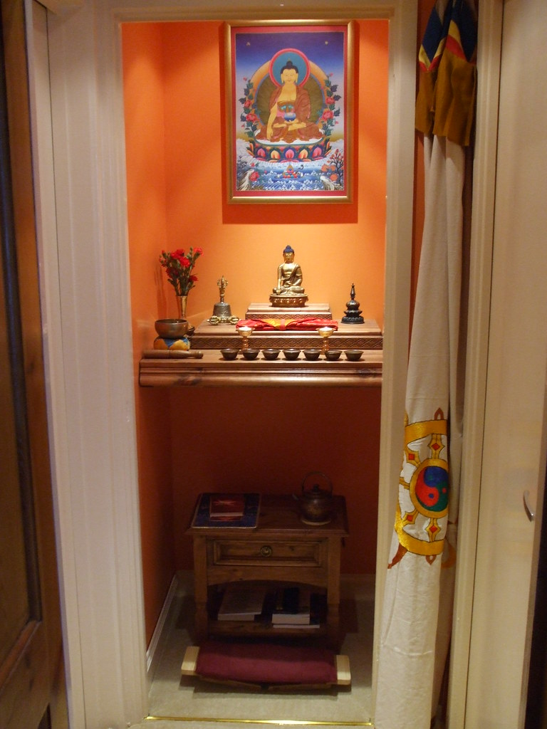 Home Buddhist Shrine New Addition Of A Genuine Thangka Art Flickr