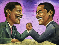 Obama's Toughest Opponent: Himself! | by Ben Heine