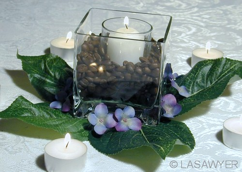 Coffee amp Candles Wedding Centerpiece This Is Simple