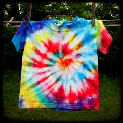 Swirly Rainbow Tie Dye T Shirt I Made Blogged How To So
