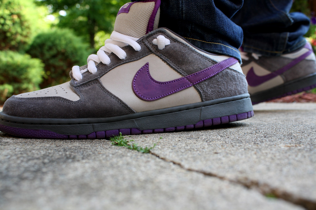 nike dunk low purple