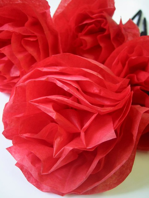 Tissue paper flowers these red tissue paper flowers are ab flickr tissue paper flowers by montclair made mightylinksfo