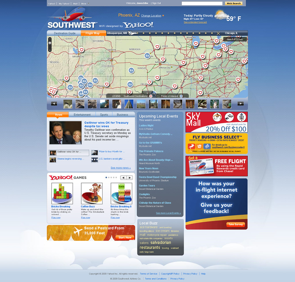 The new southwest wifi homepage southwest airlines just for Southwest airlines free wifi