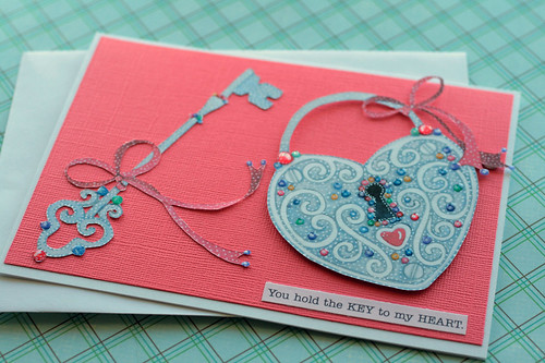 Key to My Heart Valentine's Day Greeting Card | by oldladybern