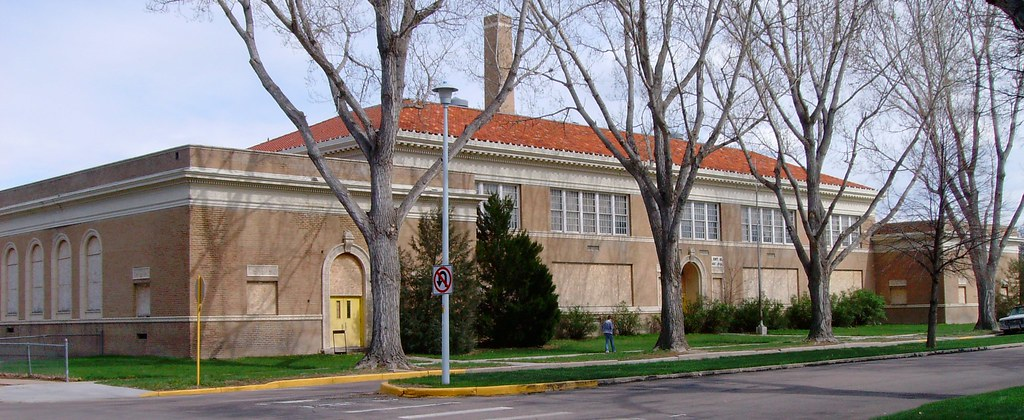 Old Central School Brush Colorado Located On Clayton
