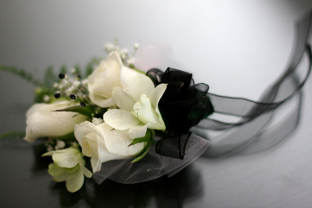 White Rose And Orchid Corsage White Rose Orchid Corsage