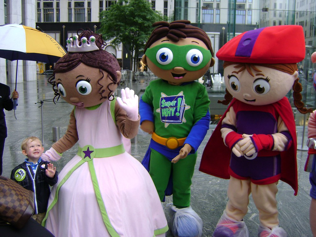 Lil Boo With Princess Presto SuperWHY And Wonder Red