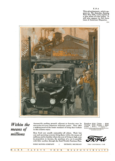1925 Ford Model T Advertisement From The Saturday Evening