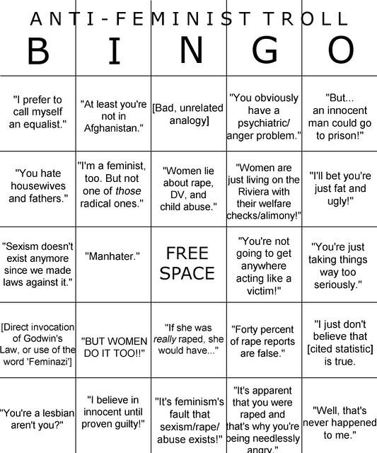 Anti-feminist Troll bingo : Liz Henry : Flickr