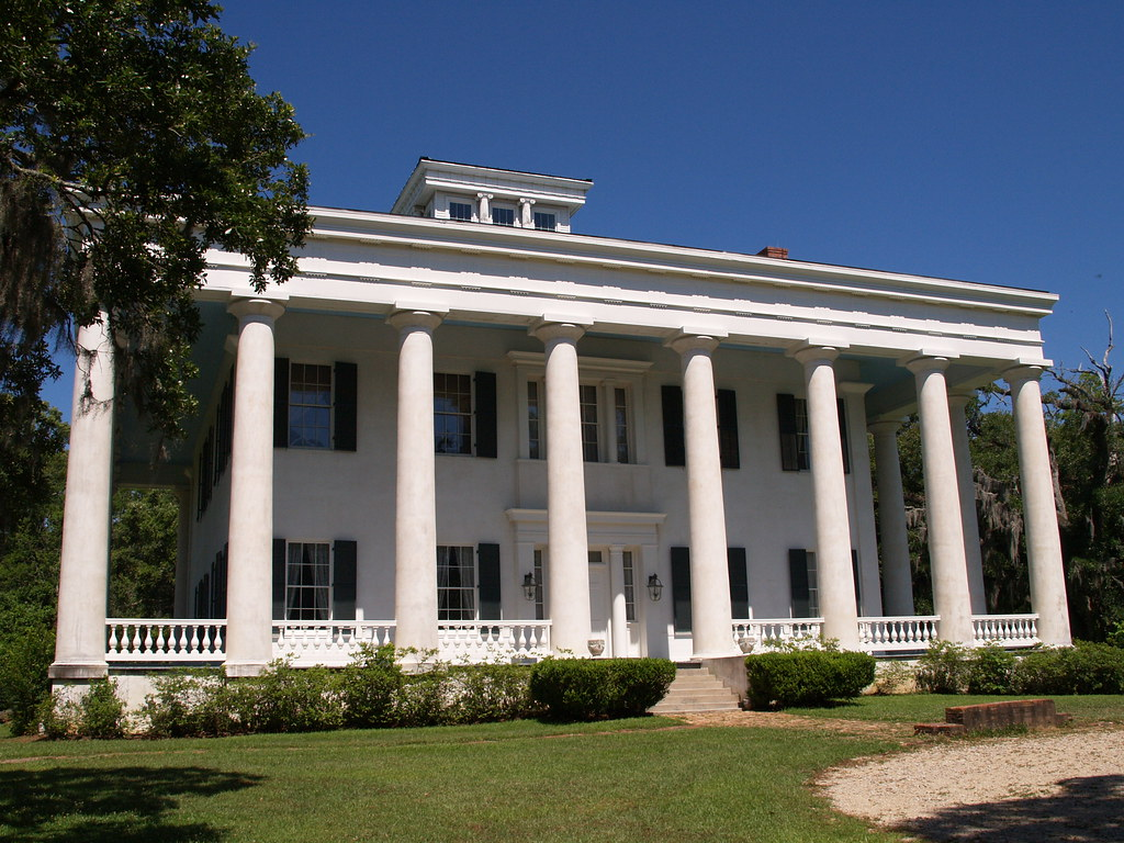 Greenwood plantation house louisiana built in 1830 in gree for Plantation modular homes