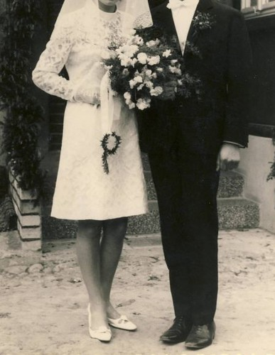 My future mother in law in her wedding dress in 1968 for Mother in law wedding dresses