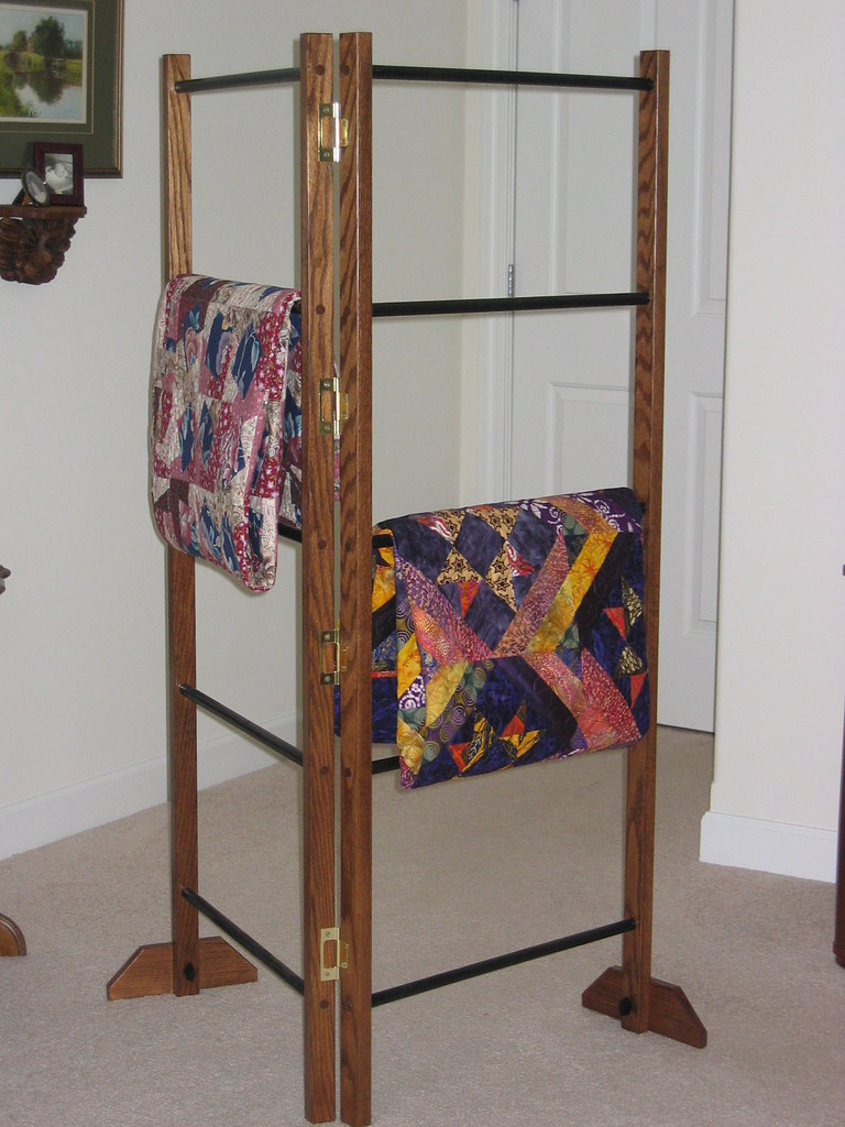 5 Ft Tall Rack; Space For Quilts 22 Wide