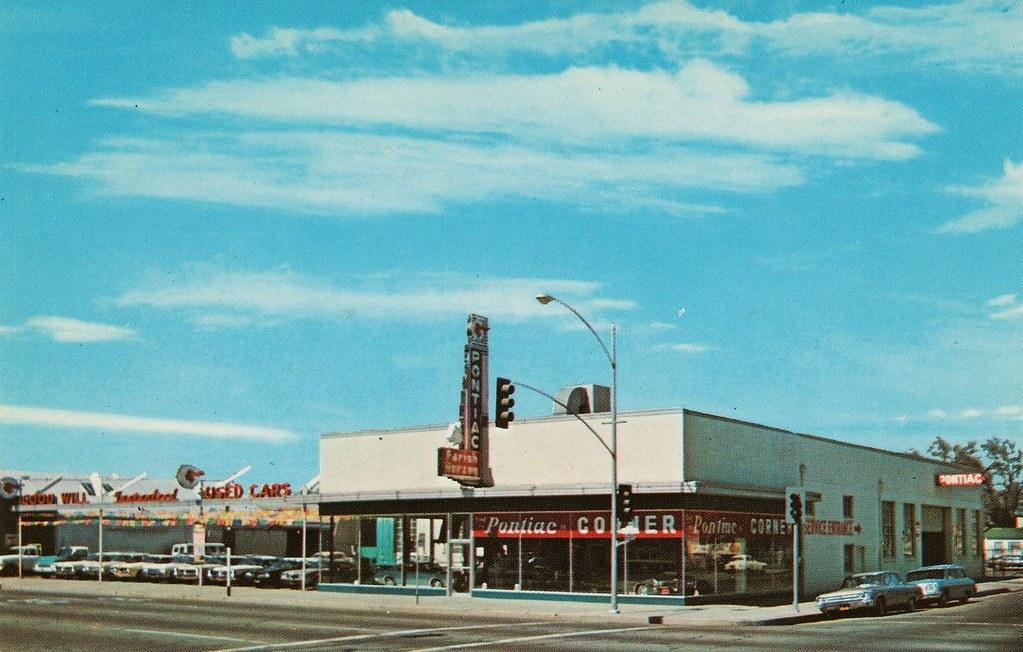 Farish-Herzog Pontiac, Modesto, CA | This postcard view of M… | Flickr