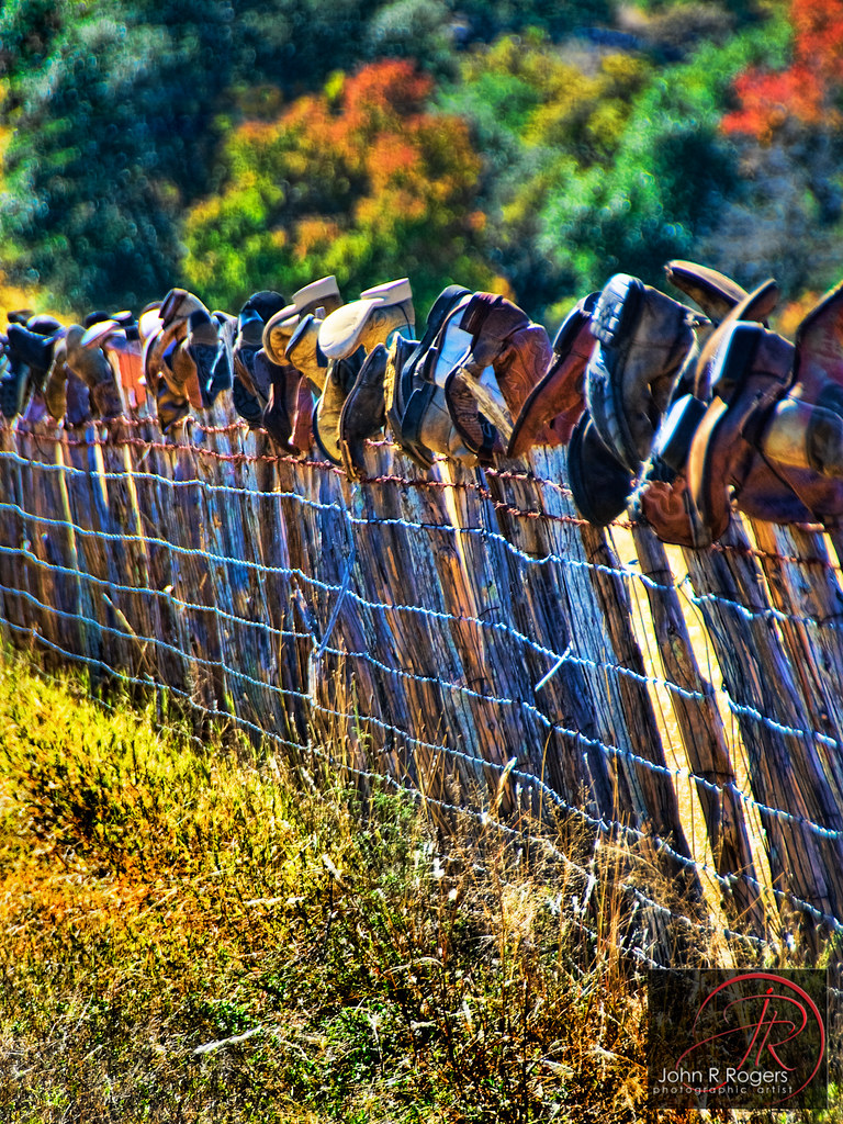 Boots On Fence While Driving Back The Back Roads To