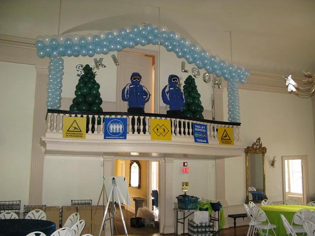 Ski Themed Decor For A Bar Mitzvah At The Historic Hamilto