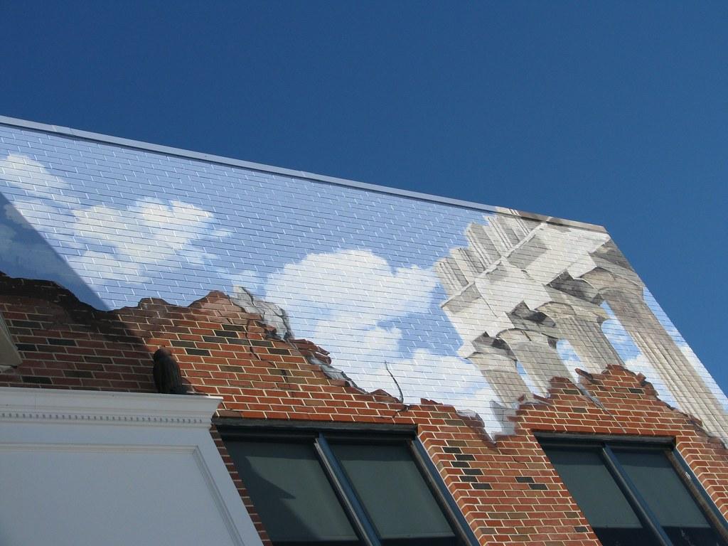 Broken wall mural beth knittle flickr for Broken wall mural