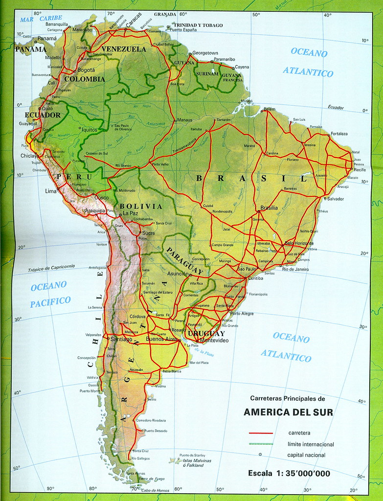 Mapa De América Del Sur Map Of South America Douglas Fernandes - Sur america map