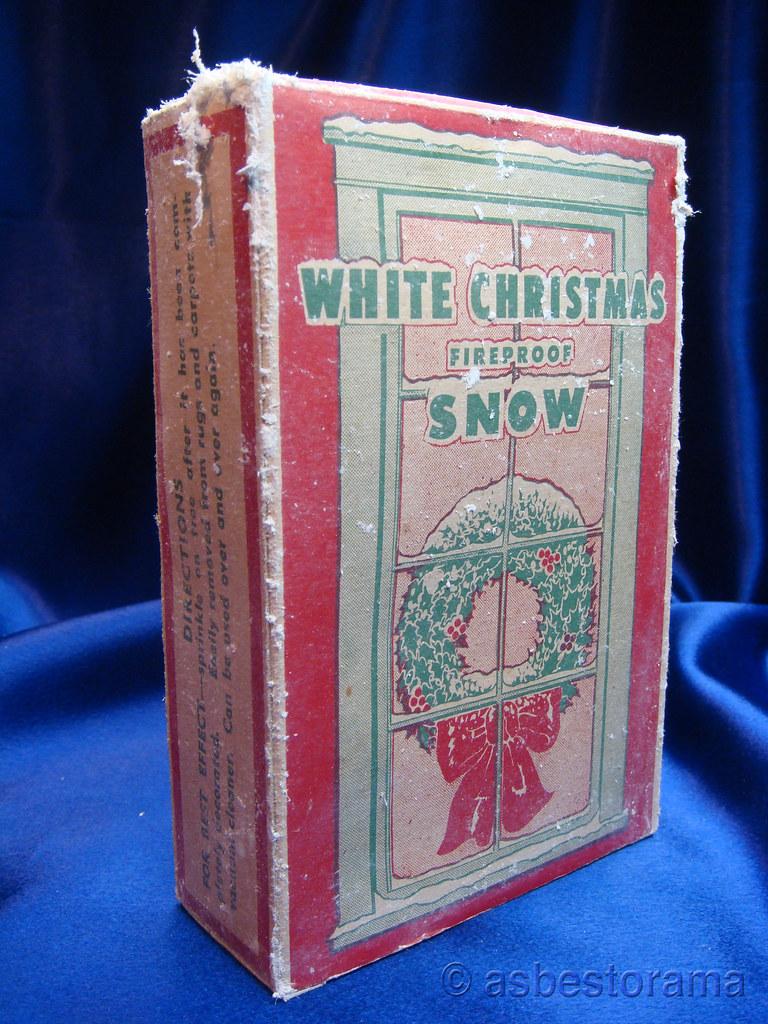 Vintage Asbestos Snow White Christmas Wreath Vintage
