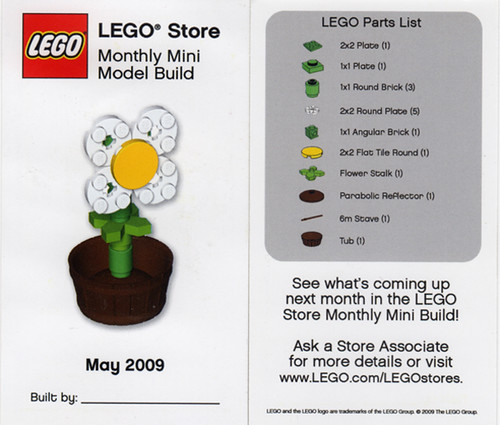 LEGO Store MMMB - May 2009 (Flower) | by TooMuchDew