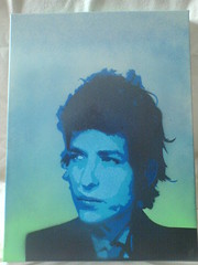 Bob dylan spraypaint on canvas