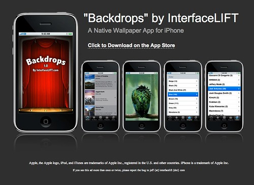 ... Iphone App Wallpaper Changer: Backdrops - Wallpaper IPhone App From InterfaceLIFT
