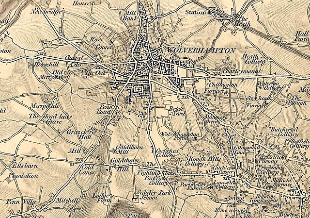 Old map of Wolverhampton c1840 Just a bit of a trial this Flickr