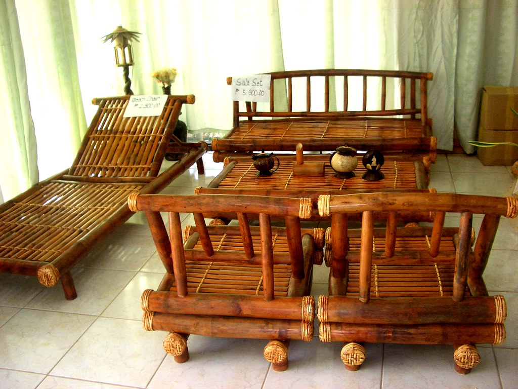 This Bamboo Furniture Set Was For Sale In Gimeras Philipp Flickr