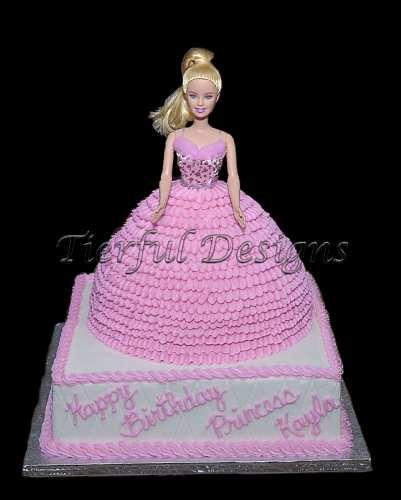 Doll Cake Buttercream Buttercream on Princess Cake