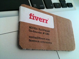 Fiverr recycled carton business card | by michakaufman