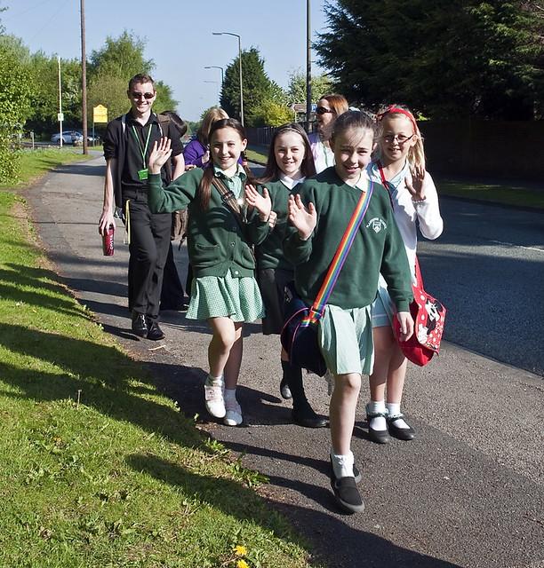 "National School Walk Out: Plantation Pupils ""Walking Bus"""