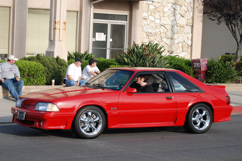Ford Mustang 5 0 Gt Foxbody With Chrome Bullitt Style Whee