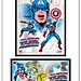 Captain America 1st day of issue stamp framed art USPS