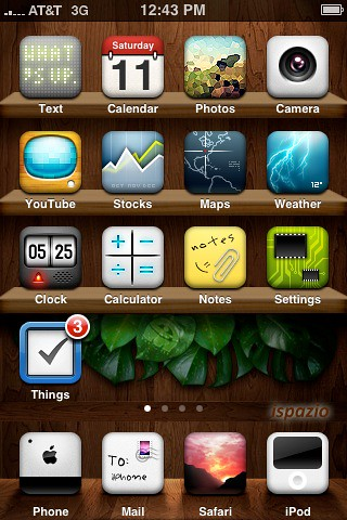 iphone message theme new winterboard iphone theme iwood realize winterboard 12033