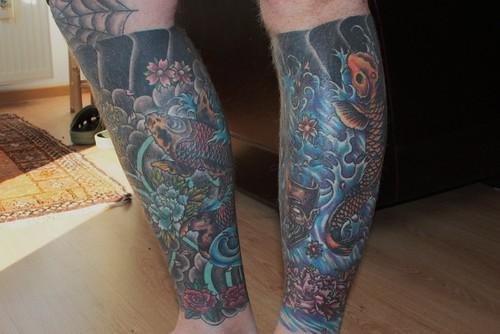 Leg Half Sleeve Tattoo