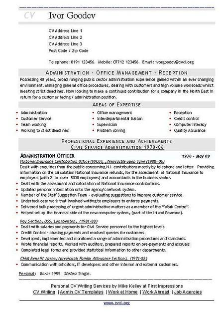 Admin Officer Public Sector (Universal CV Resume) | Download… | Flickr