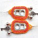 Calypso tab earrings