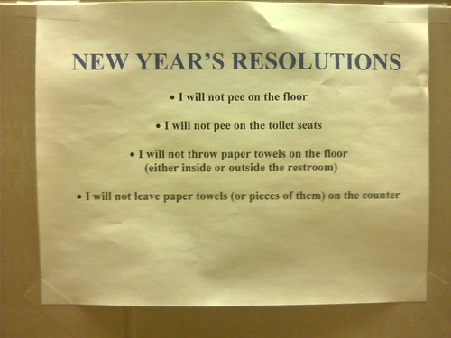 New Year's Resolutions (a few suggestions) | by passiveaggressivenotes