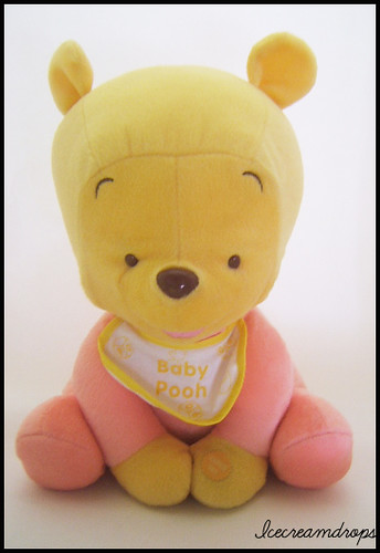 Big Large Winnie The Pooh Disney Baby Sitting Japan Plush