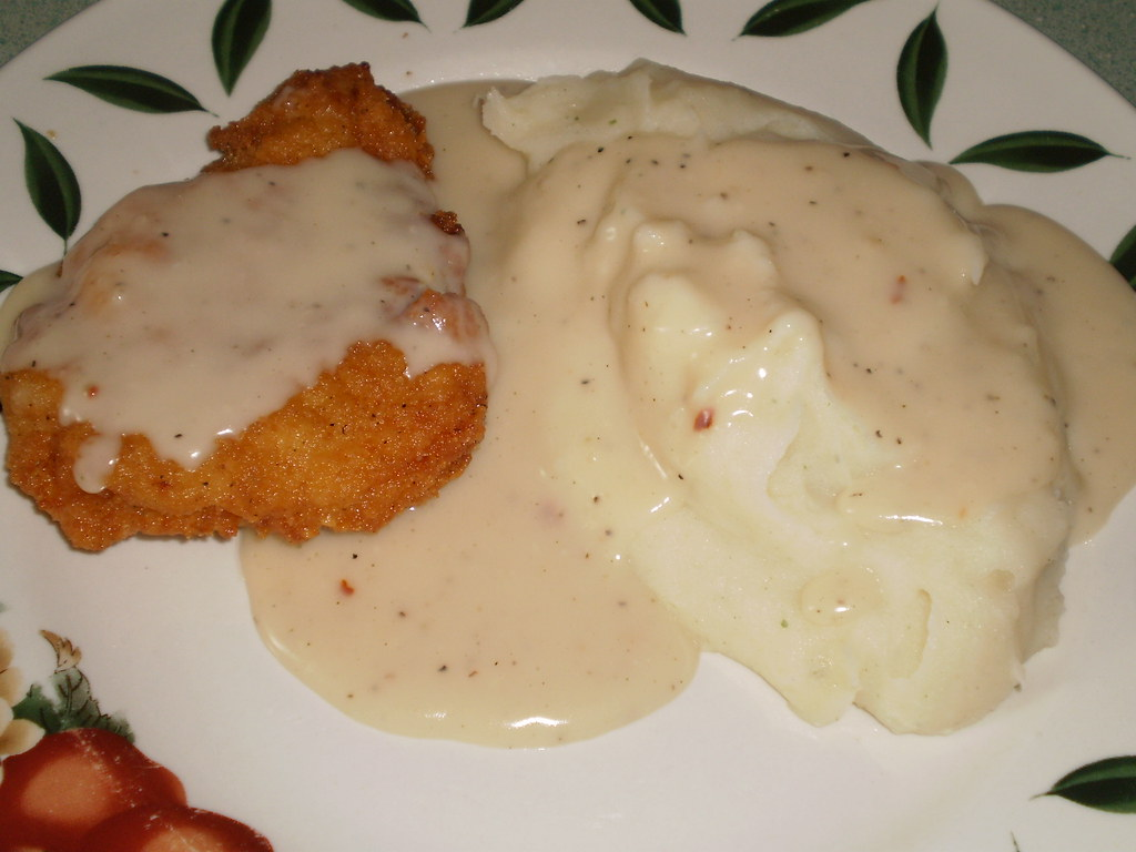 Breaded Chicken Patties, Garlic Mashed Potatoes, and Count ...