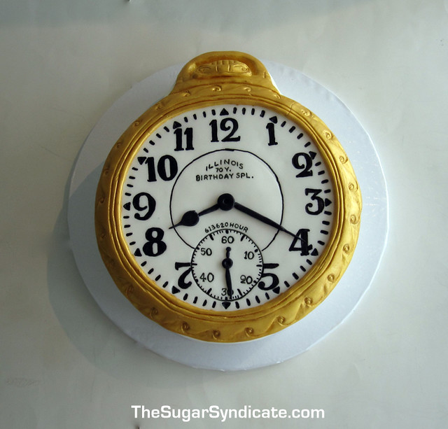 Pocketwatch Birthday Cake 169 The Sugar Syndicate Custom